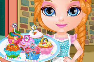 芭比宝贝制作小马蛋糕