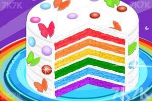《好吃的彩虹蛋糕》游戏画面1