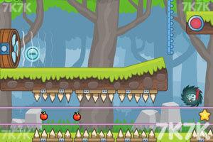 《刺猬果果的苹果乐园2H5版》游戏画面1
