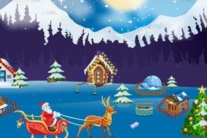 《圣诞老人寻找礼物逃脱》游戏画面1