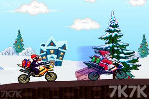 《圣诞老人骑摩托赛》游戏画面3