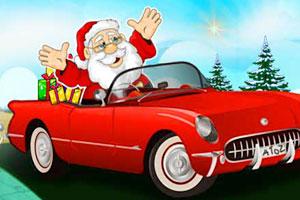 《圣诞老人漂移赛车》游戏画面1