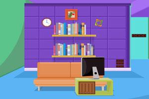 《漂亮的紫色房间逃脱》游戏画面1
