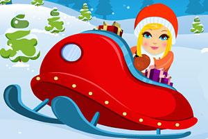 《小女孩去滑雪》游戏画面1