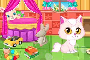 《小猫打扫房间》游戏画面1