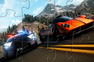 《公路极速追逐拼图》游戏画面1