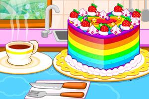五颜六色的←蛋糕