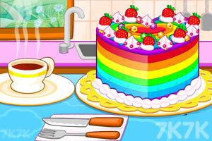 《五颜六色的蛋糕》游戏画面1