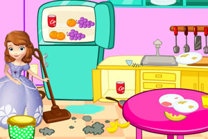 索菲亚公主房间打扫