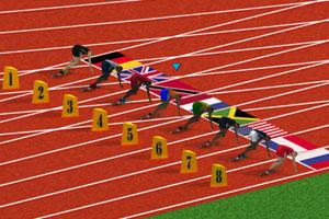 《100米短跑比赛》游戏画面1