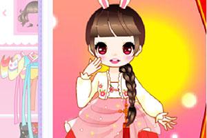《可爱女生穿韩服》游戏画面1