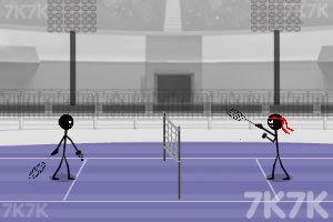 《超级火柴人羽毛球》游戏画面3
