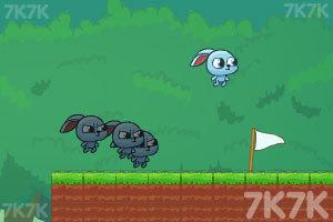 《小兔子的影分身》游戏画面1