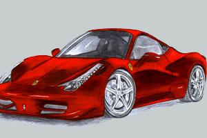 《法拉利458汽车拼图》游戏画面1