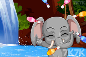 《给小象洗澡》游戏画面2