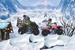 《雪地摩托赛》游戏画面1