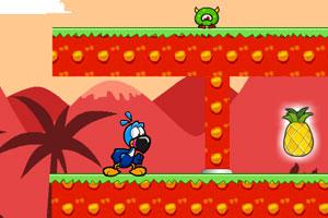 《小笨鸟火山冒险无敌版》游戏画面1