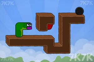 《貪吃的蘋果蟲》游戲畫面5