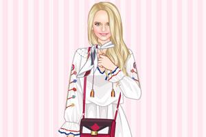《时尚围巾女孩》游戏画面1