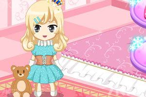 《冰雪公主娃娃屋装饰》游戏画面2