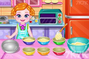 《宝贝制作彩虹蛋糕》游戏画面3