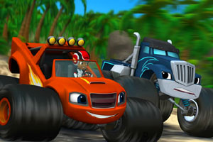 《怪物卡车找字母》游戏画面1