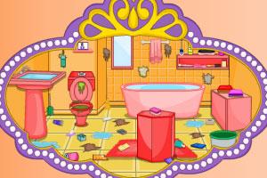 《索菲亚打扫洗手间》游戏画面1
