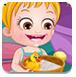 可愛寶貝和小黃鴨