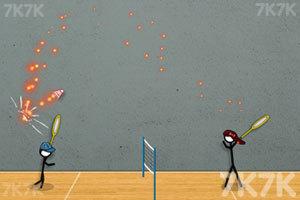 《火柴人打羽毛球3》游戏画面5