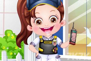 《可爱宝贝保安装扮》游戏画面1