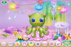 《清洁章鱼婴儿房》游戏画面3