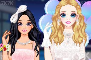 《时尚短款婚纱》游戏画面1