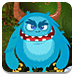 蓝色怪兽逃离