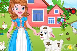 《索菲亚照顾小羊羔》游戏画面2