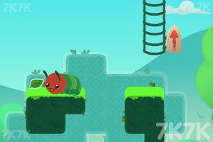 《爱吃叶子的毛毛虫》游戏画面1
