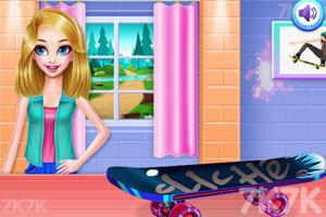 《滑板女孩装扮》游戏画面3
