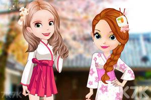 《索菲亚和安伯的和服》游戏画面1