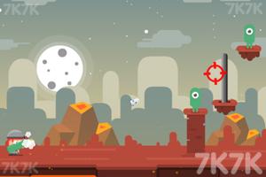 《炮轰外星小怪》游戏画面2