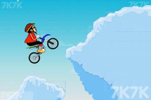 《雪地自行车》游戏画面1
