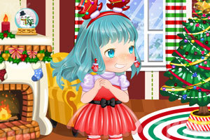 《可爱的女孩过圣诞》游戏画面2