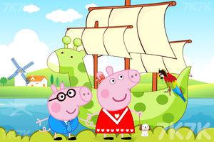 《粉红猪的船》截图2