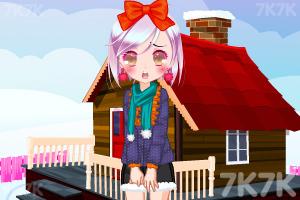 《小萝莉的雪景照》游戏画面2