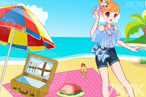 《元气少女海边野餐》游戏画面3