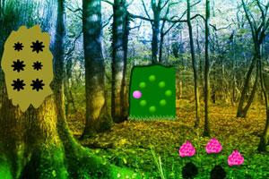 《热带花卉森林逃脱》游戏画面1