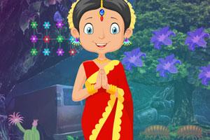 《救援传统的印度女孩》游戏画面1