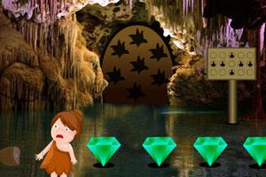 《洞穴女孩逃脱》游戏画面1