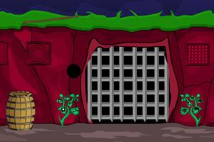 《逃出神秘红色洞穴》游戏画面1