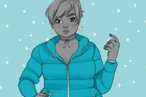 《胖女孩的冬日时尚》游戏画面1