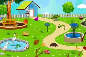 《公主家花园清洁》游戏画面1