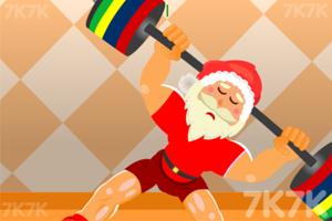 圣诞老人来举重